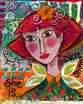 "She is Sunshine 8 1/2"" X 11"" $175.00"